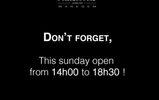 Exceptionally open this sunday !