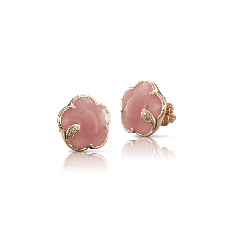 Pasquale Bruni Bon Ton Ton Jolì earrings pink gold and pink chalcedony