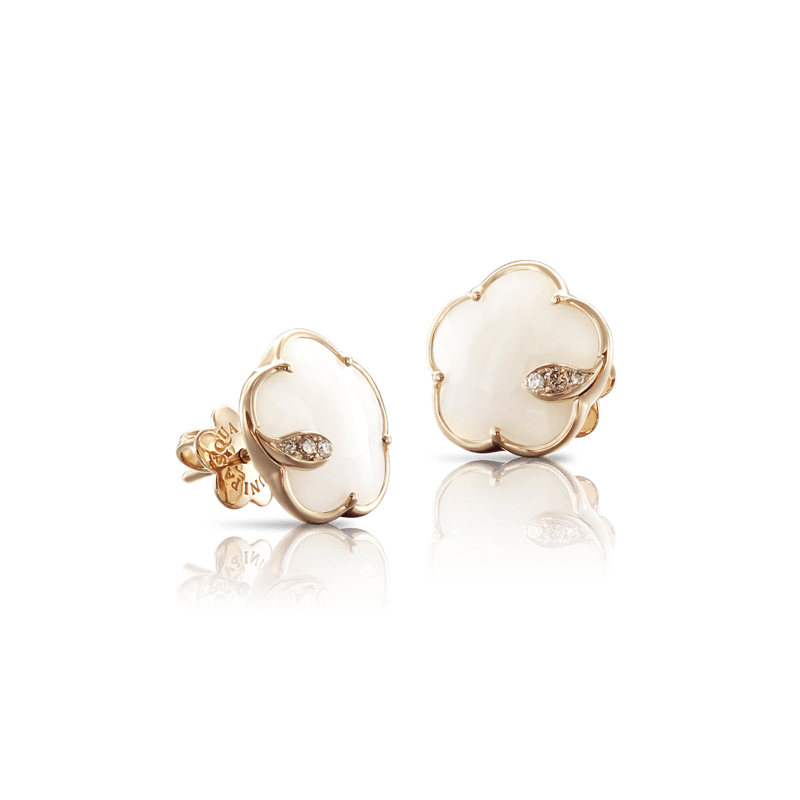 Pasquale Bruni Bon Ton Ton Jolì earrings pink gold and white agate