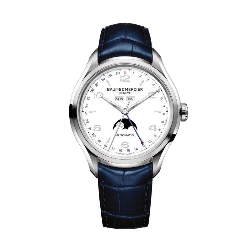 MOA10450 | Baume & Mercier Clifton Automatic Small Complications Complete Calendar - Webshop
