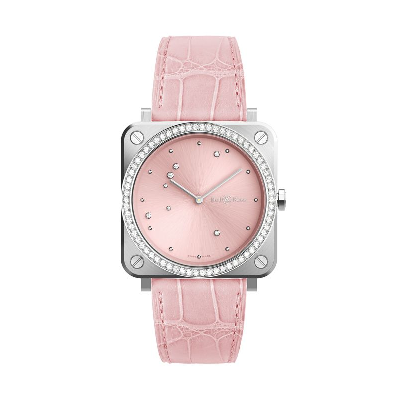 BRS-EP-ST-LGD-SCR | Bell & Ross BR S Pink Diamond Eagle - Webshop