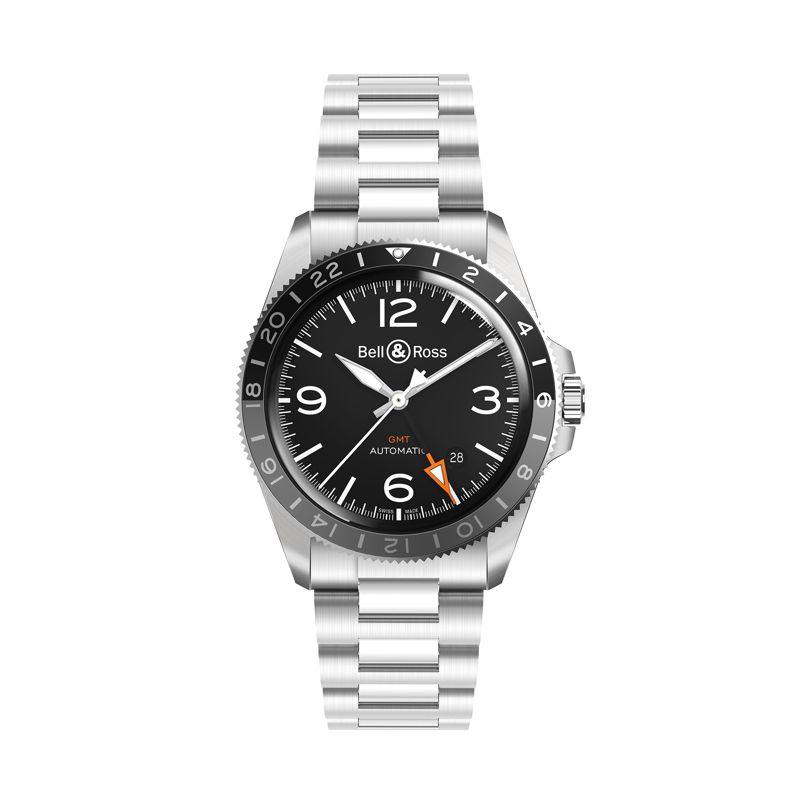 BRV293-BL-ST SST | Bell & Ross BR V2-93 GMT 24 - Bell & Ross  - Watches - Webshop