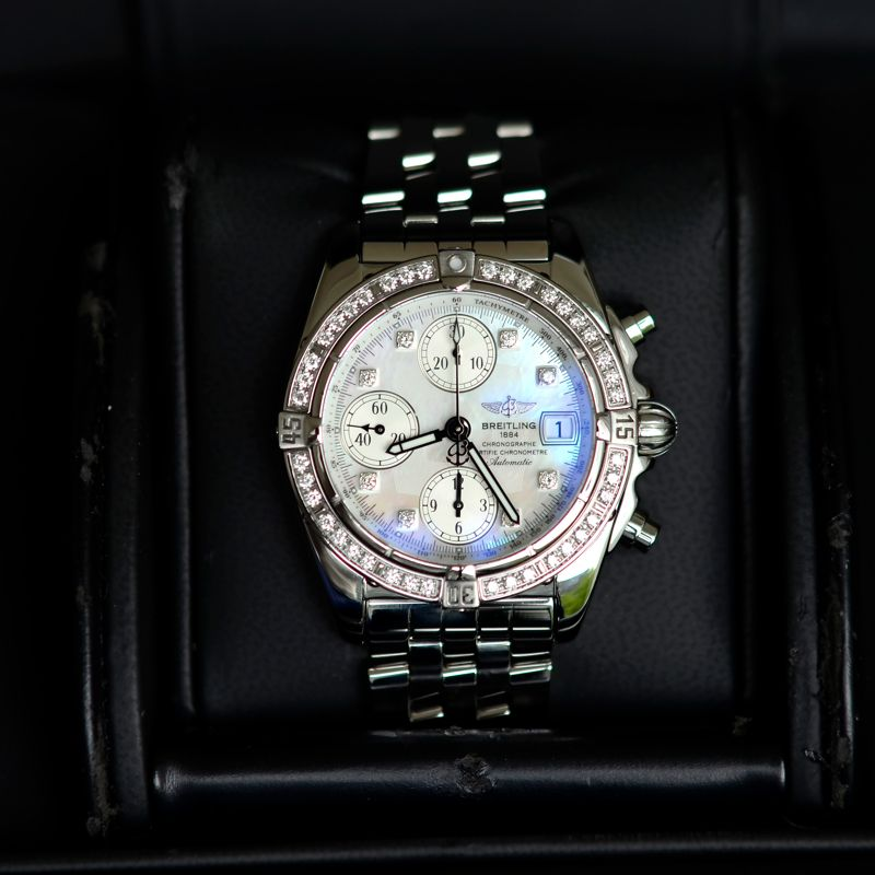 A1335853 | Breitling Chrono Cockpit Diamonds - Past New Time - Webshop