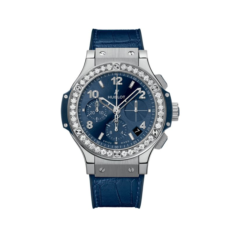 341.SX.7170.LR.1204 | Hublot Big Bang Steel Blue Diamonds - Hublot - Webshop
