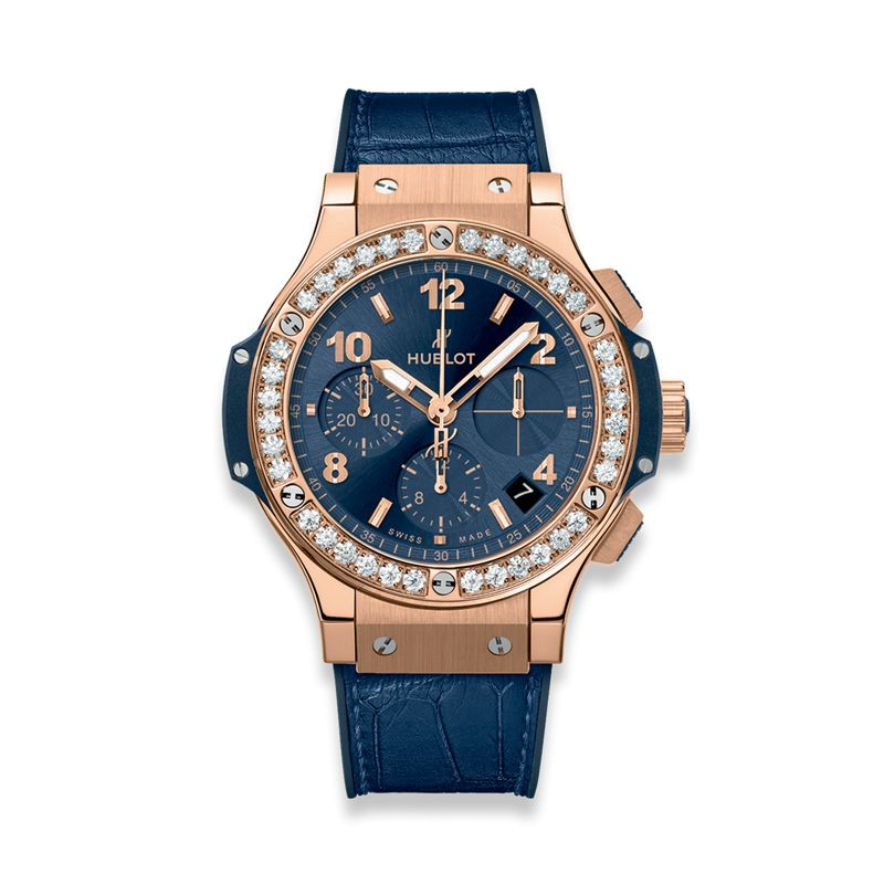341.PX7180.LR.1204 | Hublot Big Bang Gold Blue Diamonds - Hublot - Watches - Webshop