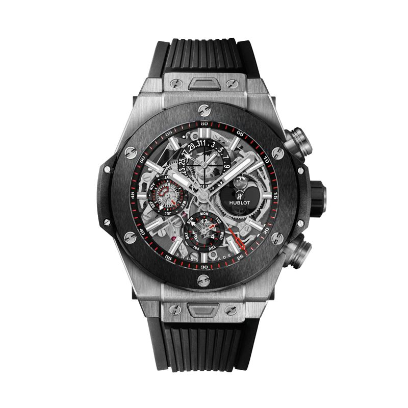 406.NM.0170.RX | Hublot BIg Bang Unico Chronograph Perpetual Calendar Titanium Ceramic - Webshop