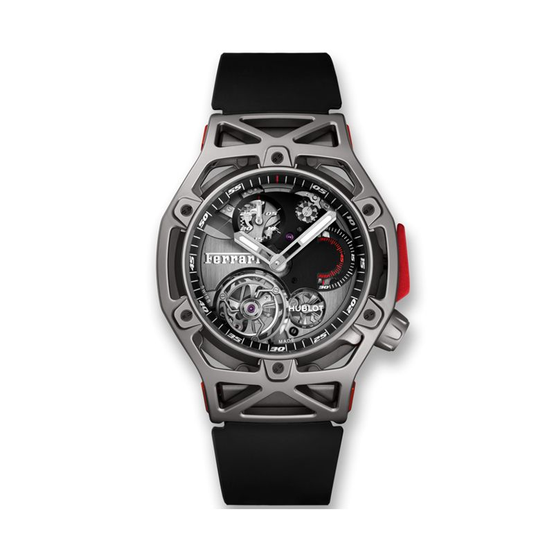 408.NI.0123.RX | Hublot Techframe Ferrari Tourbillon Chronograph Titanium - Webshop