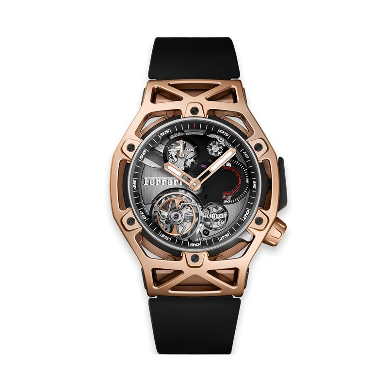 408.OI.0123.RX | Hublot Techframe Ferrari Tourbillon Chronograph King Gold - Webshop