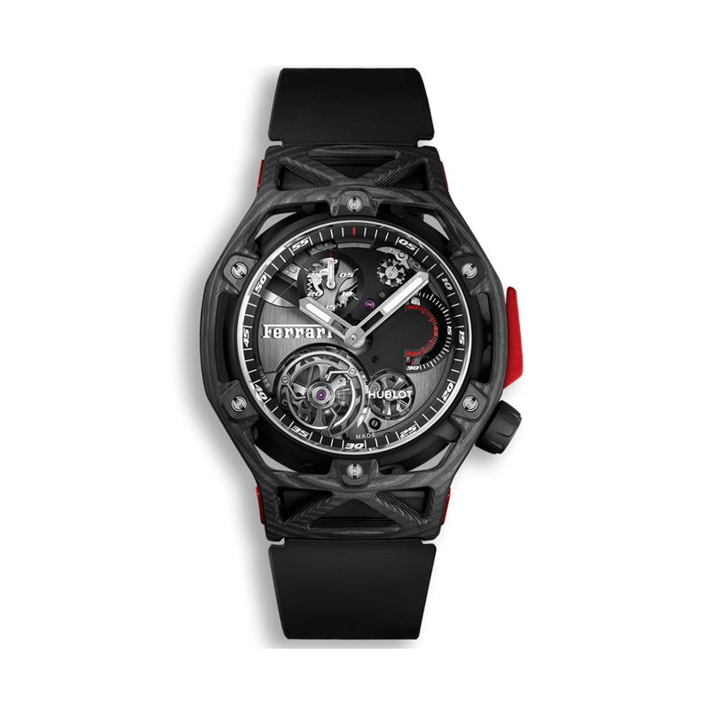 408.QU.0123.RX | Hublot Techframe Ferrari Tourbillon Chronograph Carbon - Webshop