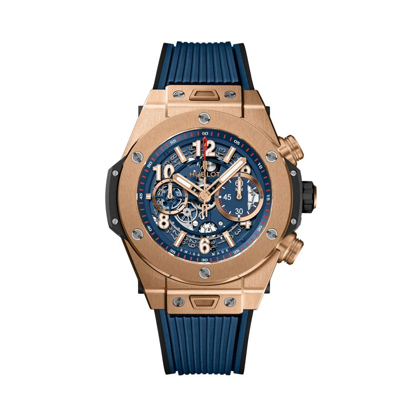 411.OX.5189.RX | Hublot Big Bang Unico King Gold Blue - Hublot - Webshop