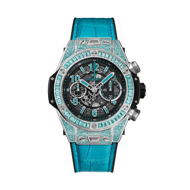 411.WX.1179.LR.0919 | Hublot Big Bang Unico White Gold Paraiba -
