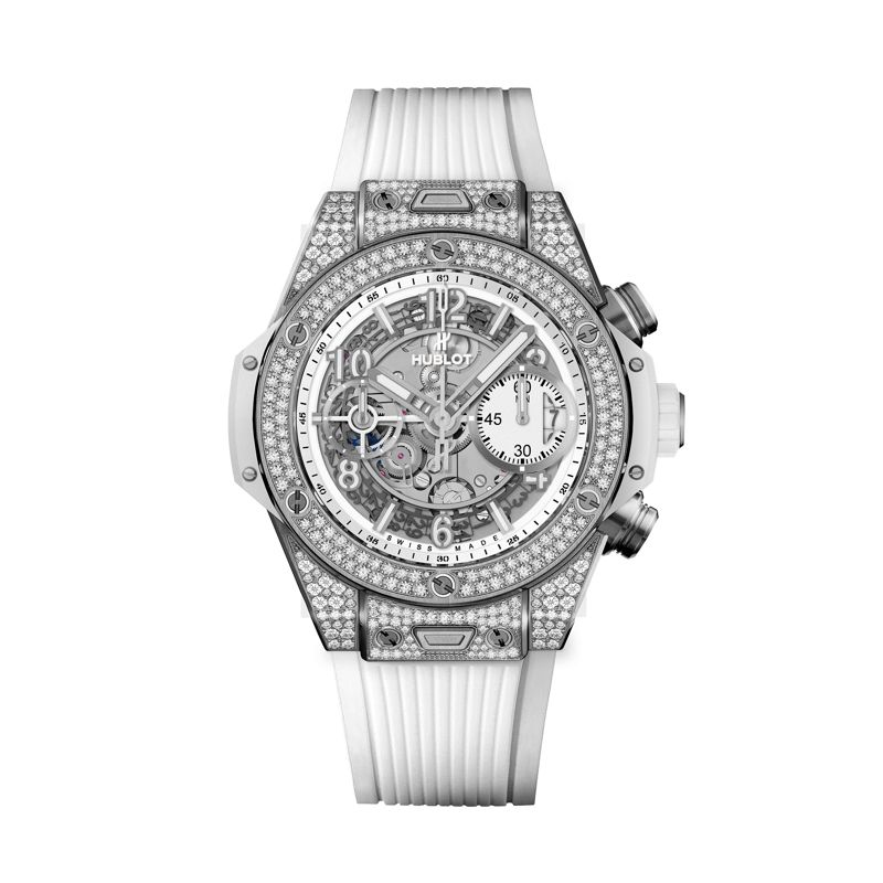 441.NE.2010.RW.1704 | Hublot Big Bang Unico Titanium White Pave - Hublot - Webshop