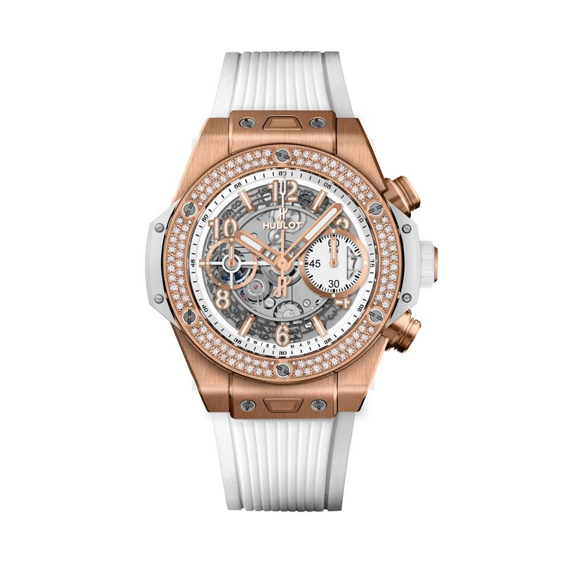 441.OE.2010.RW.1104 | Hublot Big Bang Unico King Gold White Diamonds - Webshop