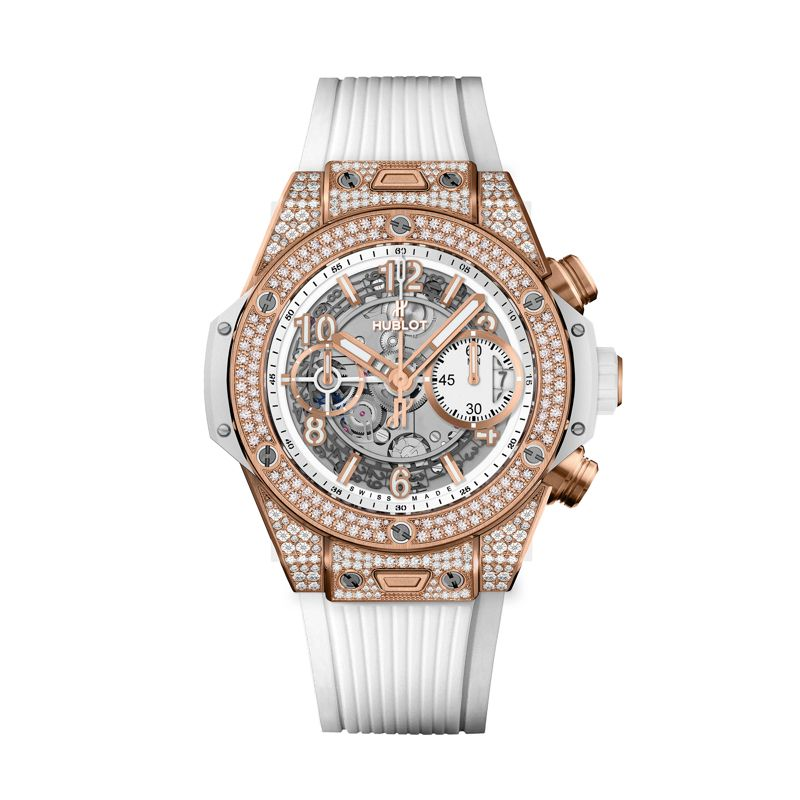 441.OE.2010.RW.1704 | Hublot Big Bang Unico King Gold White Pave - Hublot - Webshop