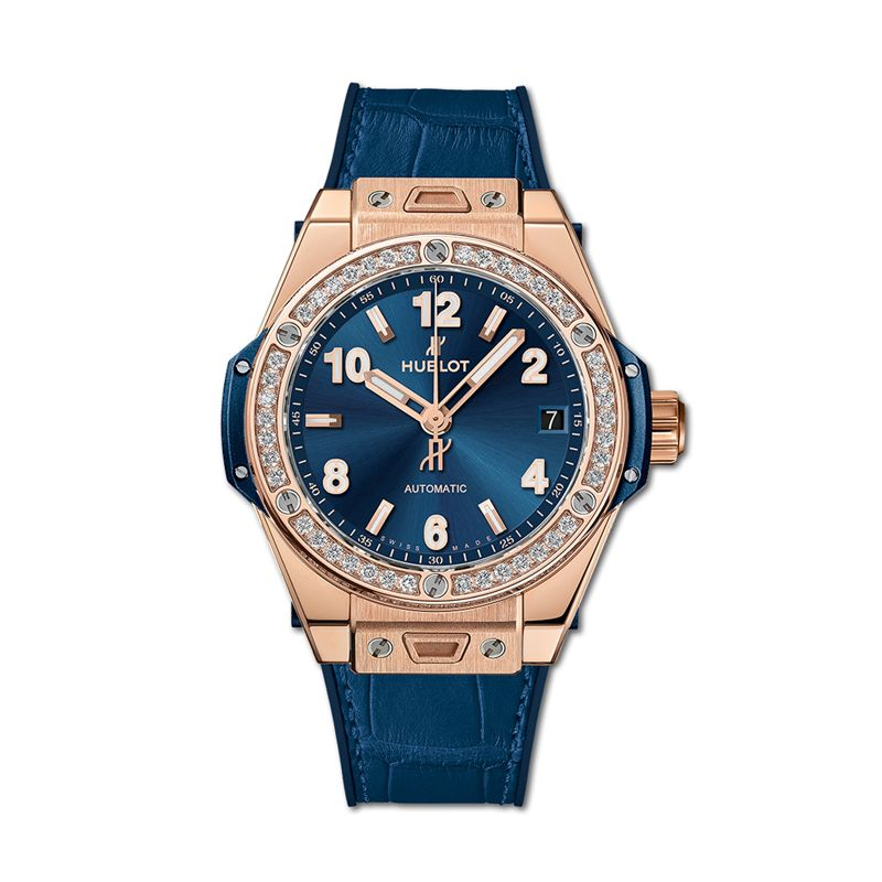 465.OX.7180.LR.1204 | Hublot Big Bang One Click King Gold Blue Diamonds - Webshop
