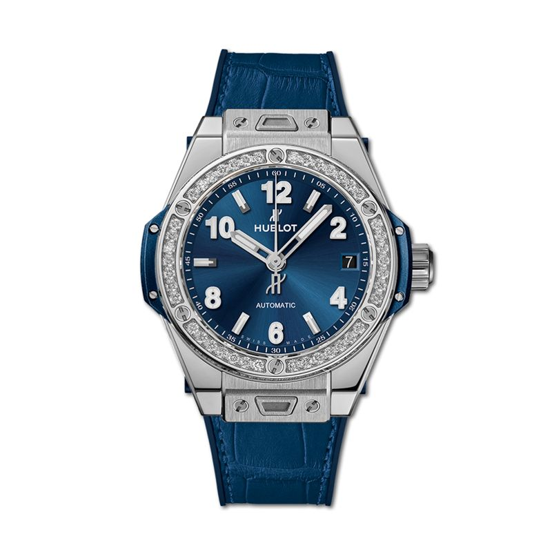 465.SX.7170.LR.1204 | Hublot Big Bang One Click Steel Blue Diamonds