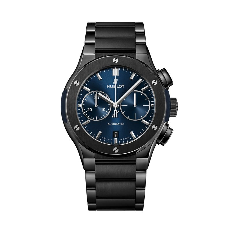 Hublot Classic Fusion Chronograph Ceramic Integrated Bracelet Blue - Webshop