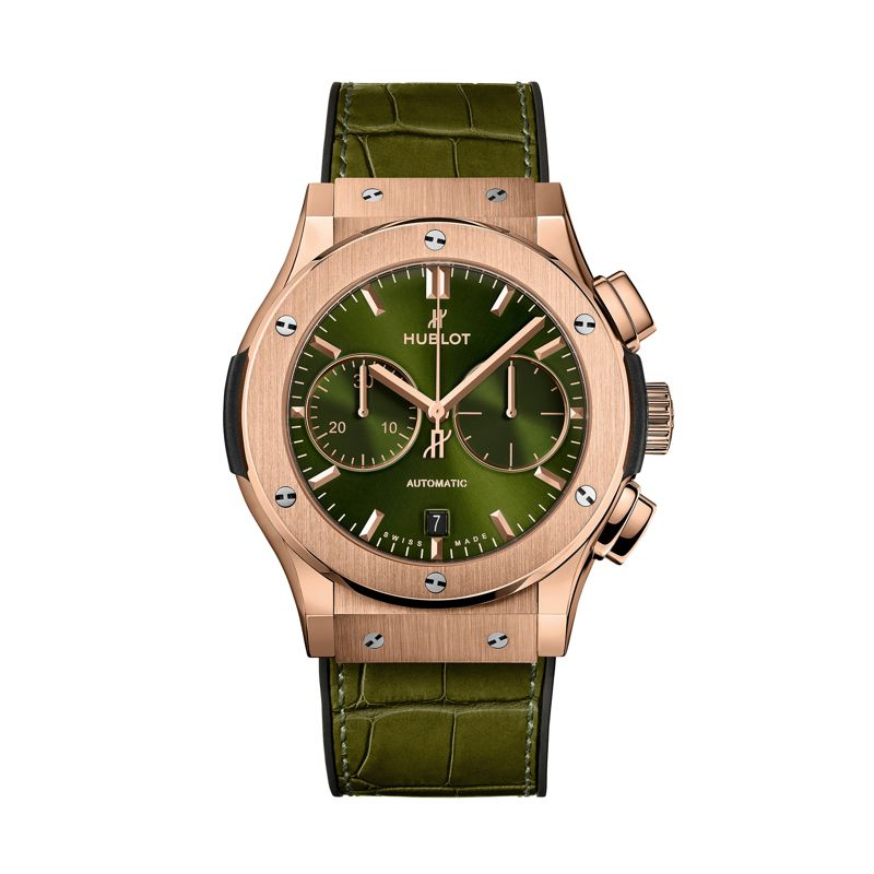 521.OX.8980.LR | Buy Hublot Classic Fusion Chronograph King Gold Green - Webshop