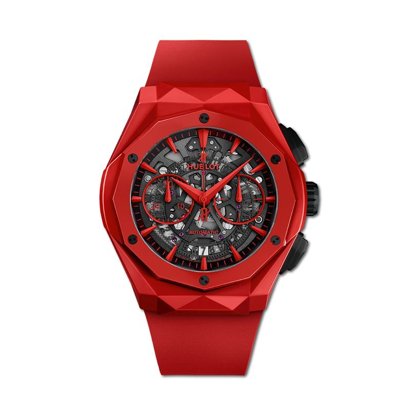 525.CF.0130.RX.ORL19 | Hublot Classic Fusion Aerofusion Chronograph Orlinski Red Ceramic - Webshop