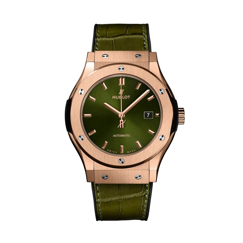 542.OX.8980.LR | Hublot Classic Fusion Green King Gold - Hublot - Webshop