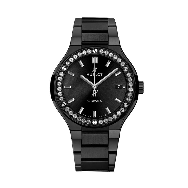 568.CM.1470.CM.1204 | Hublot Classic Fusion Black Magic Bracelet Diamonds - Webshop