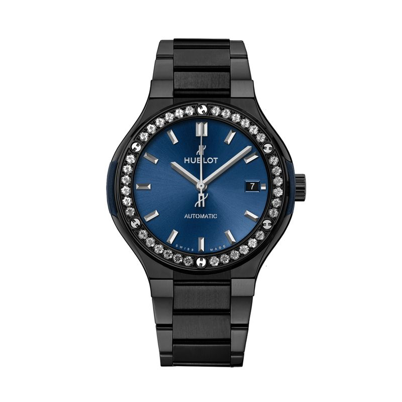 568.CM.7170.CM.1204 | Hublot Classic Fusion Ceramic Blue Bracelet Diamonds - Webshop