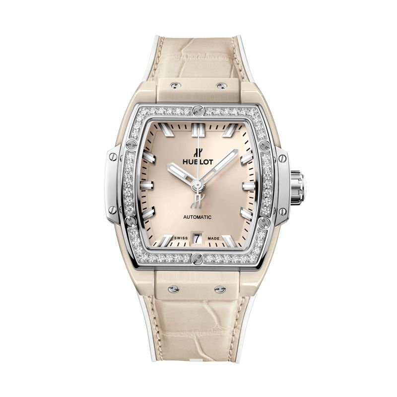 Hublot Spirit of Big Bang Beige Ceramic Titanium Diamonds - Webshop