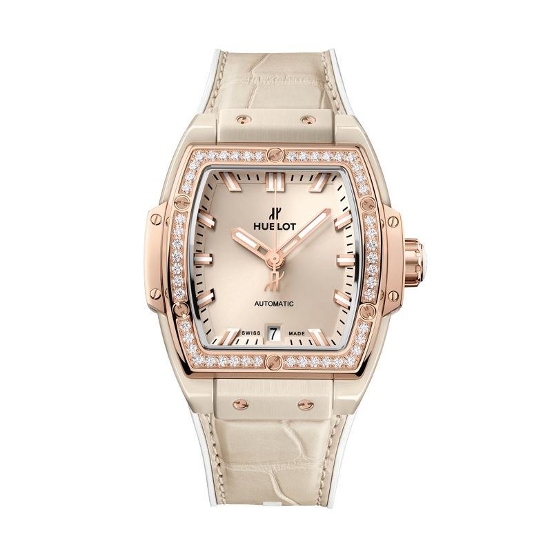 Hublot Spirit of Big Bang Beige Ceramic King Gold Diamonds - Webshop