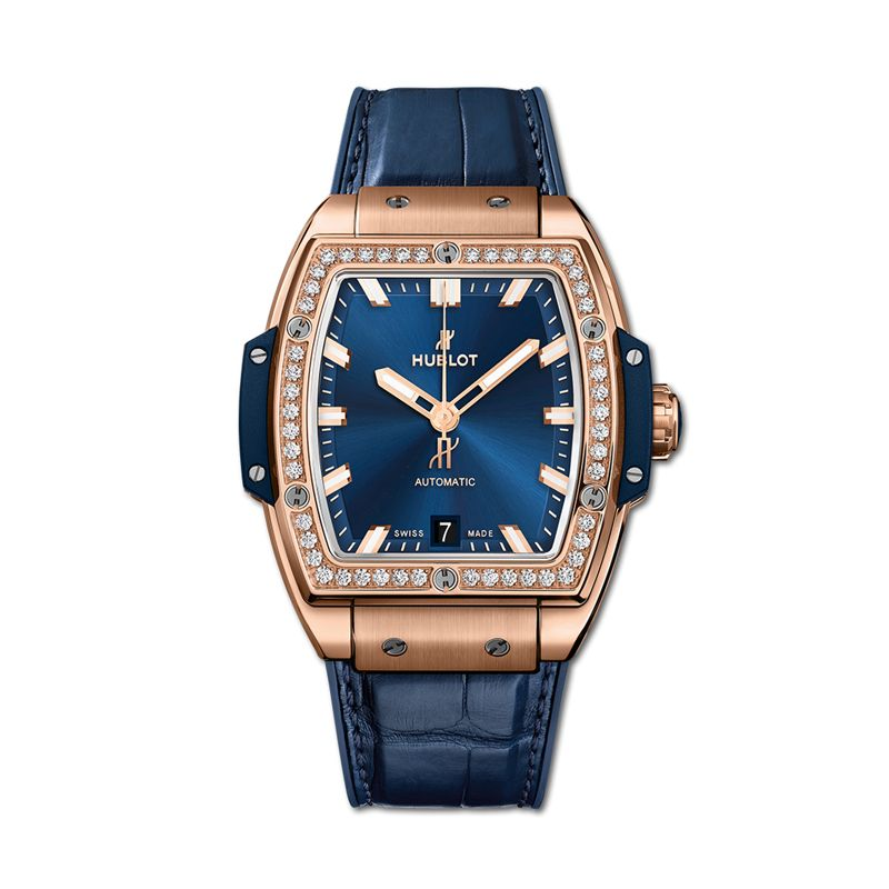 665.OX.7180.LR.1204 | Hublot Spirit of Big Bang King Gold Blue Diamonds - Webshop