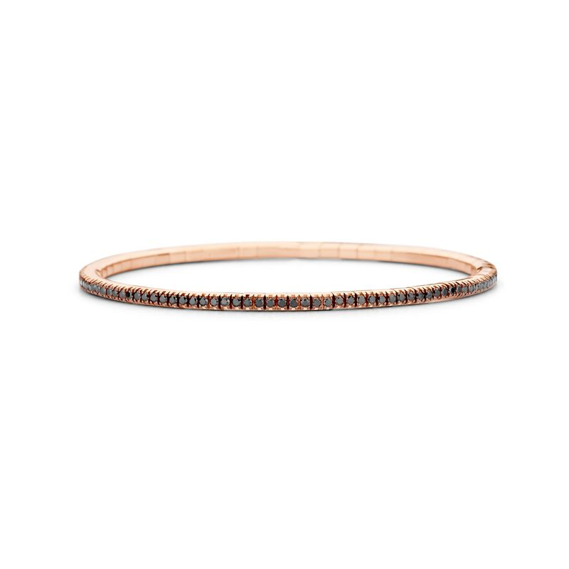 Tennis bracelet Rose Gold Black Diamonds T1 - Jewelry - Webshop