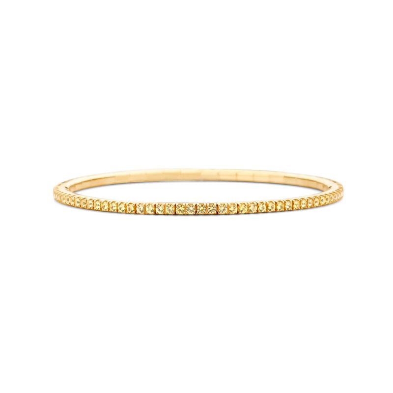 Tennis bracelet Yellow Gold Yellow Sapphire T2 - Webshop
