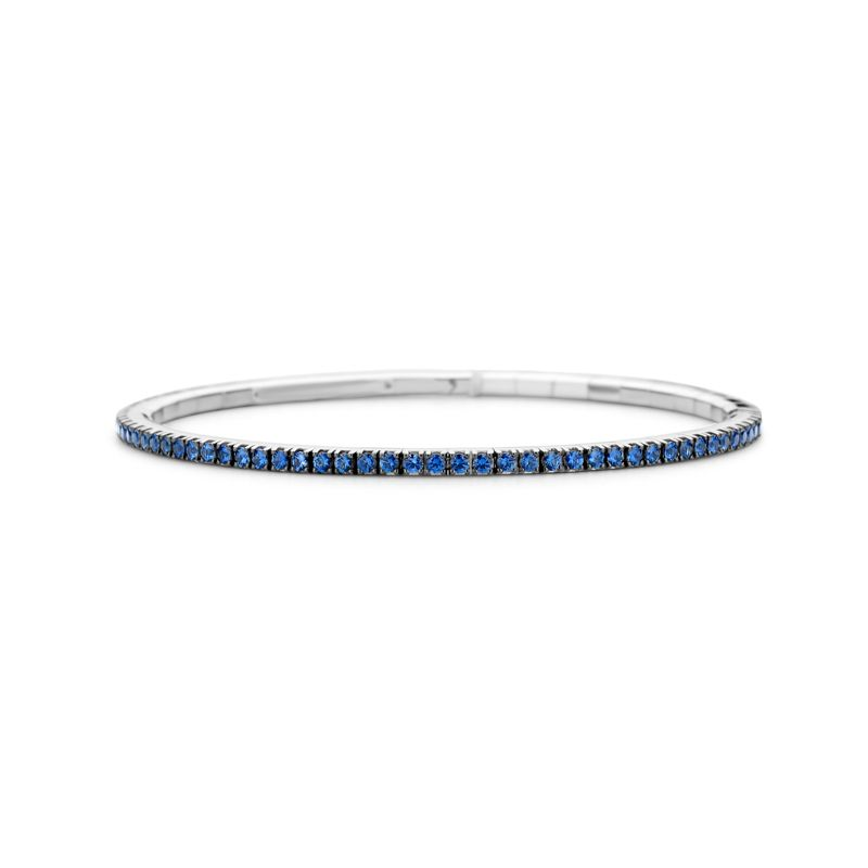 Tennis bracelet White Gold Blue Sapphires T2 - Jewelry - Webshop