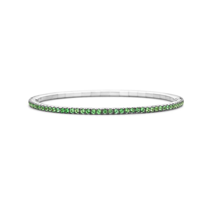 Tennis bracelet White Gold Tsavorite T2 - Jewelry - Webshop