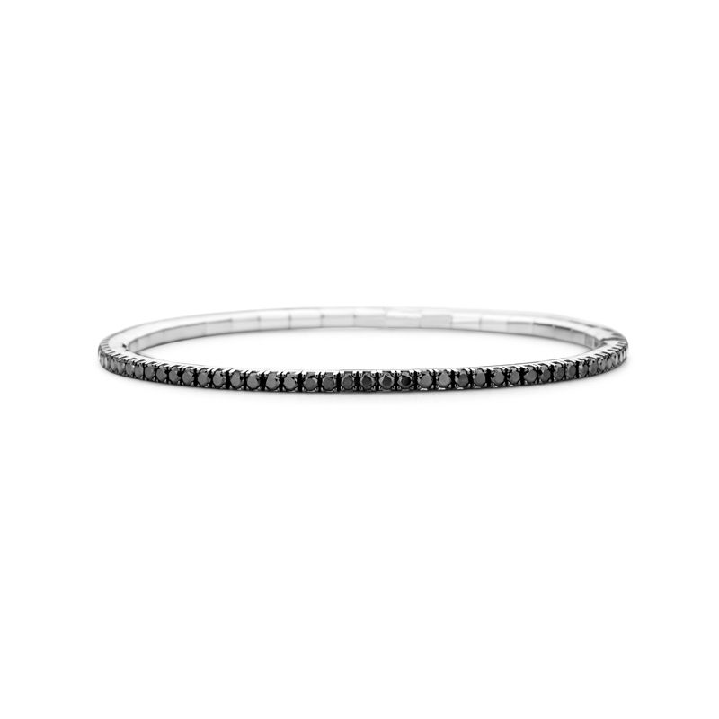 Tennis bracelet White Gold Black Diamonds T2 - Jewelry - Webshop