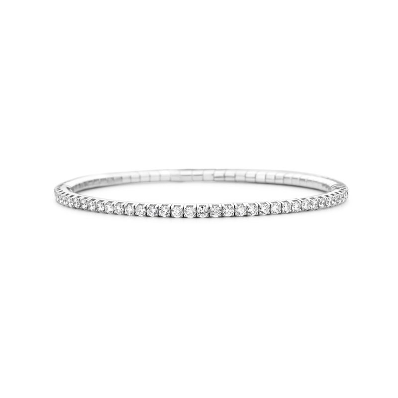 Tennis bracelet White Gold White Diamonds T3 - Jewelry - Webshop