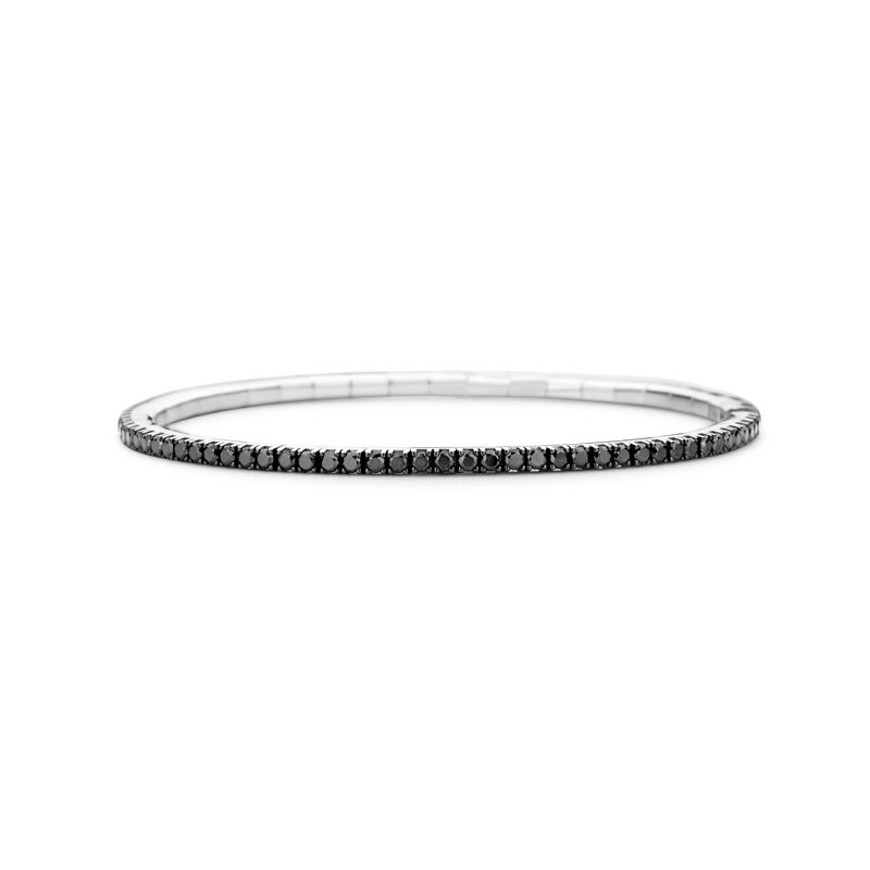 Tennis bracelet White Gold Black Diamonds T3 - Jewelry - Webshop