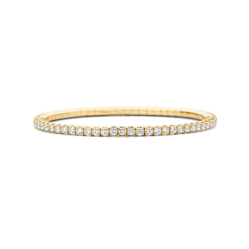 Tennis bracelet Yellow Gold White Diamonds T4 - Webshop