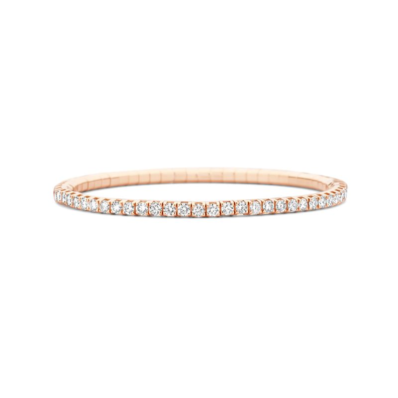 Tennis bracelet Rose Gold White Diamonds T4 - Jewelry - Webshop