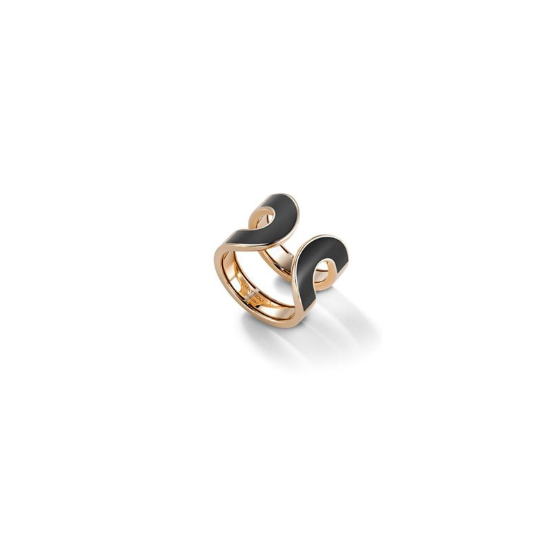 Mattioli 1TO Aruba ring in rose gold and onyx - Webshop