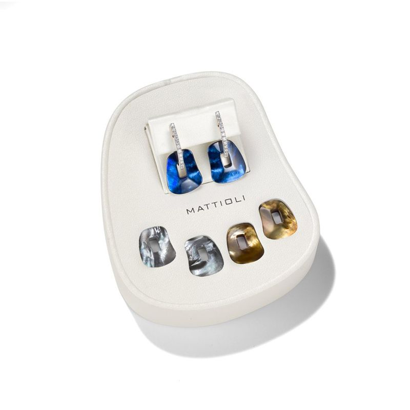 Mattioli Puzzle Gift Box earrings white gold - Webshop - Jewels