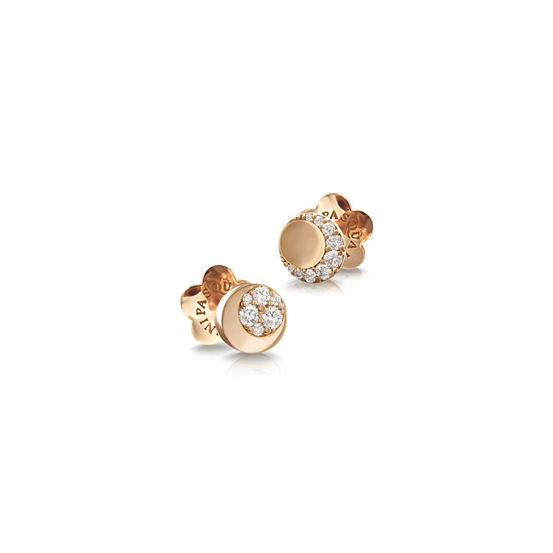 Pasquale Bruni Luce earrings rose gold and white diamonds - Webshop