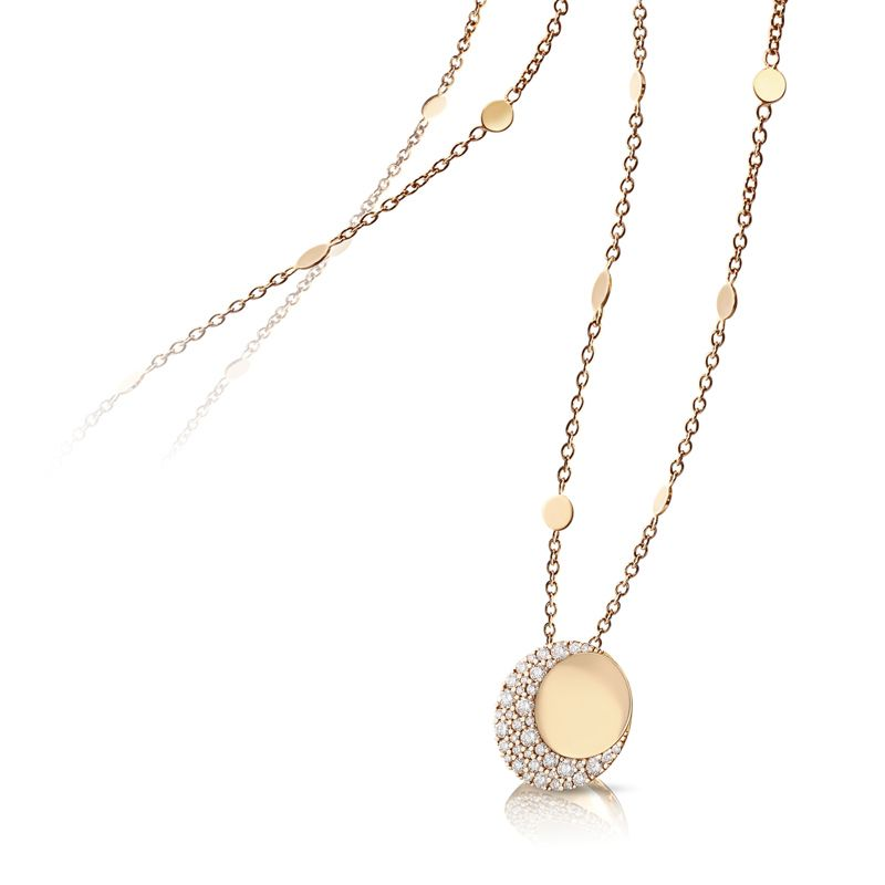 Pasquale Bruni Luce necklace rose gold and white diamonds - Webshop