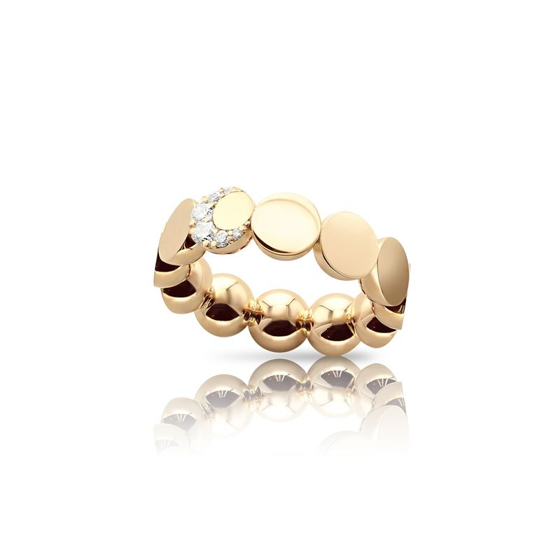 Pasquale Bruni Luce ring rose gold and white diamonds