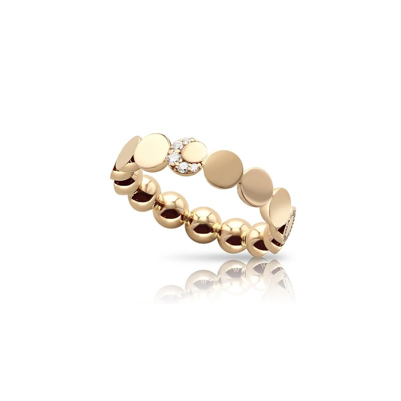 Pasquale Bruni Luce ring rose gold and white diamonds - Webshop