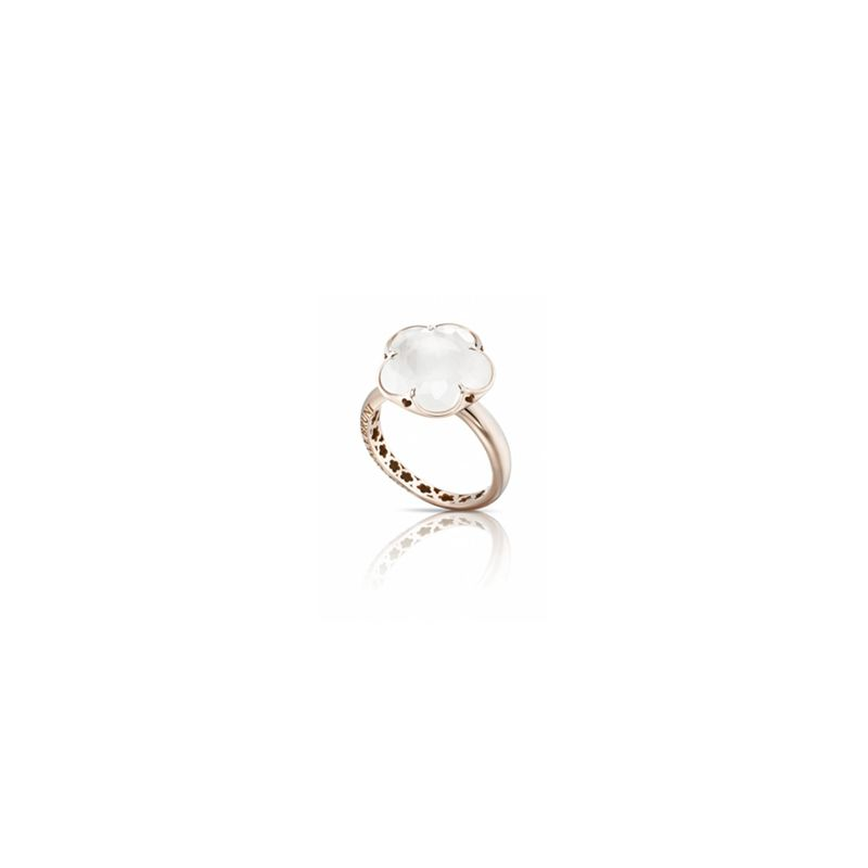 15039R | Pasquale Bruni Bon Ton ring pink gold and milky quartz - Webshop