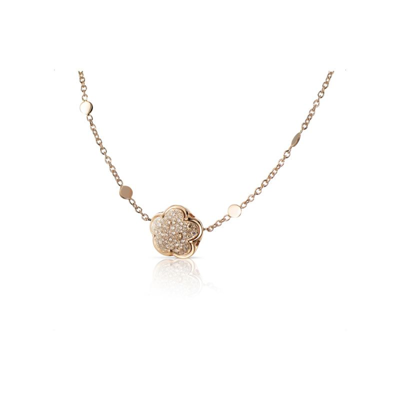 15098R | Pasquale Bruni Bon Ton necklace in red gold and champagne diamonds - Webshop