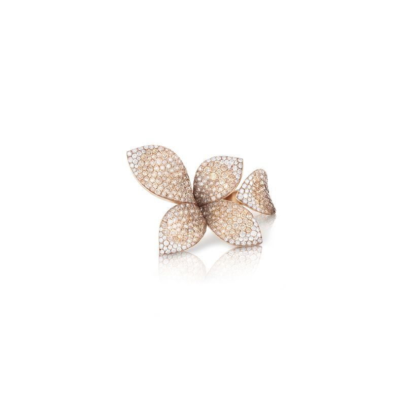 15115R | PB Giardini Segreti ring rose gold and diamonds - websho