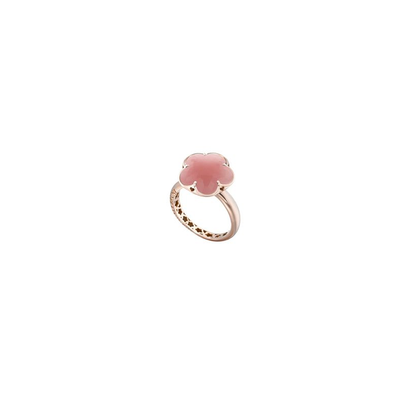 15386R | Pasquale Bruni Bon Ton ring pink gold and deep pink chalcedony - Webshop