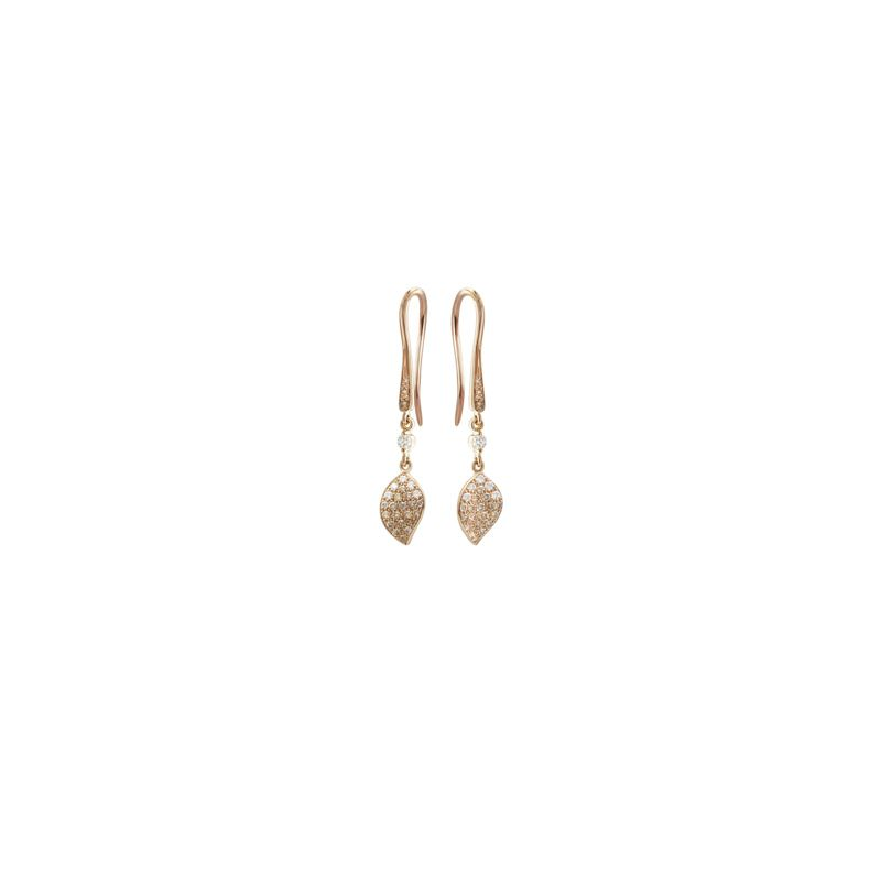 15395R | Pasquale Bruni Petit Garden earrings pink gold 38mm - Webshop