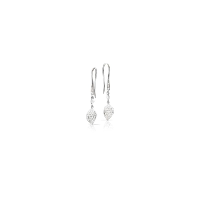 15397B | Pasquale Bruni Petit Garden earrings white gold 38mm - Webshop